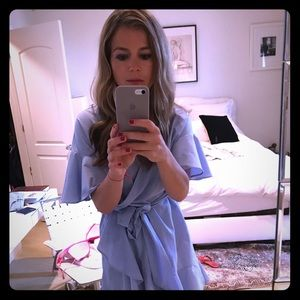 Adorable blue shirt dress by topshop